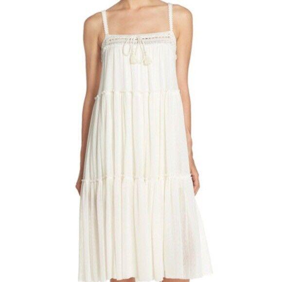 NWT Robin Piccone Sophia Maxi Dress Cream Size Large L