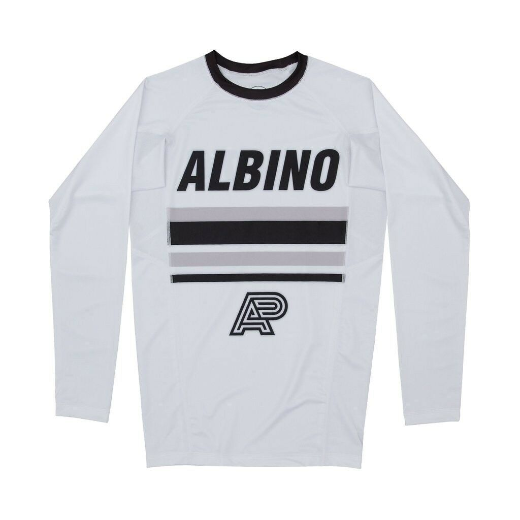 ALBINO & PRETO A&P 18 COMP RASHGUARD - SHOYgoldLL - WHITE LARGE