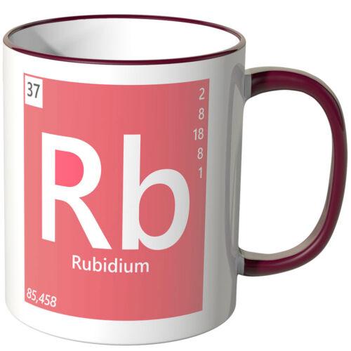"WANDKINGS Tasse Periodensystem /""Rb Farben Geschenk Chemie Rubidium/"" ver"