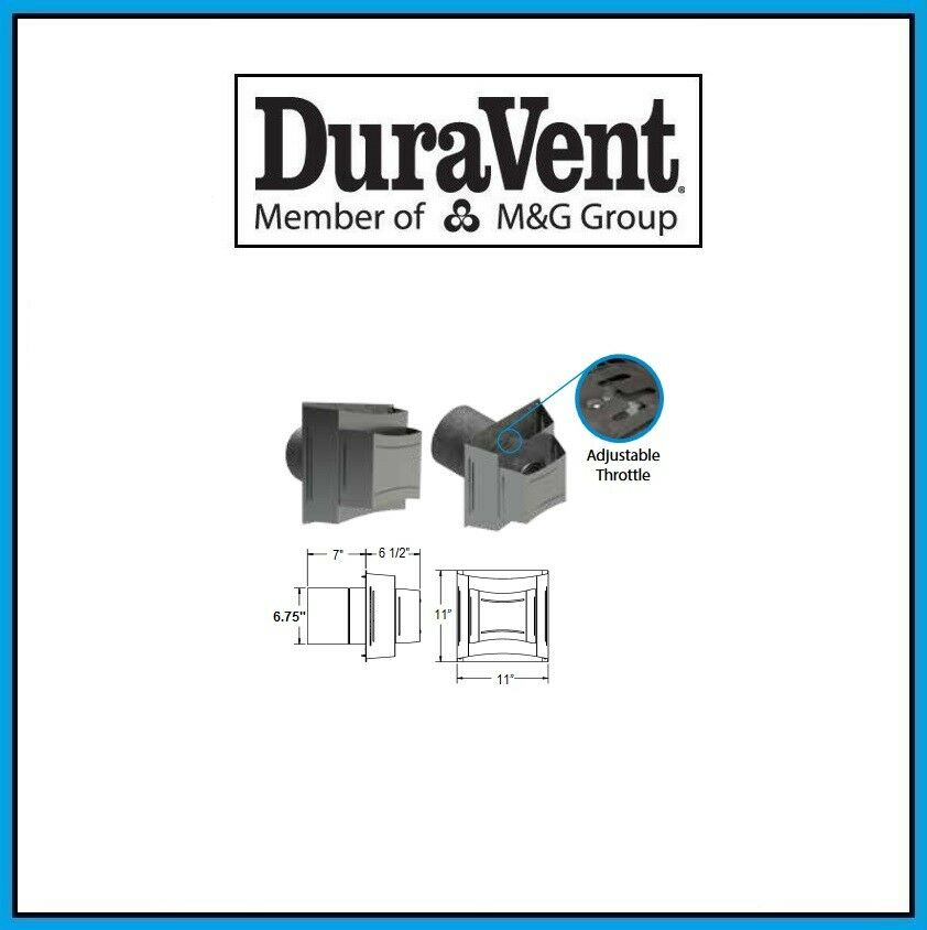 DuraVent 4  X 6 5 8  DirectVent Pro Horizontal Cuadrado terminación Gorra  46DVA-H2