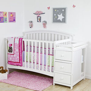 Image Is Loading 5 In 1 Side Convertible Crib Changer Nursery