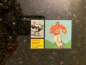 1962 Topps Football #142 PRENTICE GAUTT (SHORT PRINT ...