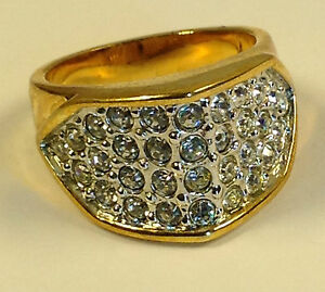 Beautiful-Brilliant-HIS-HERs-Gold-Ring-Thirty-Two-Quality-Swarovski-stones-NEW