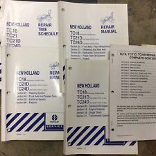 New Holland Tc18 Tc21d Tc24d Tractor Service Repair Shop Manual Guide 87012847