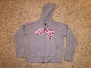 online store 016ec 6bb81 Details about Chicago Cubs Nike Full Zip Distressed Hoodie Sweatshirt -  Men's Medium