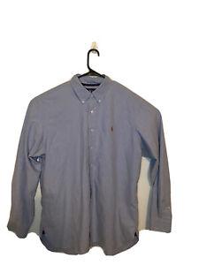 Ralph Lauren Button Down Shirt Mens XXL Denim Blue Long Sleeve Cotton Classic.