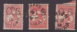 Victoria-unframed-postmarks-x-3-on-1d-OS-Kangaroo-issues