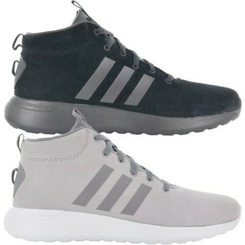 Adidas Cloudfoam Lite Racer mid Cf shoes Men's Leather Sneakers Leisure New