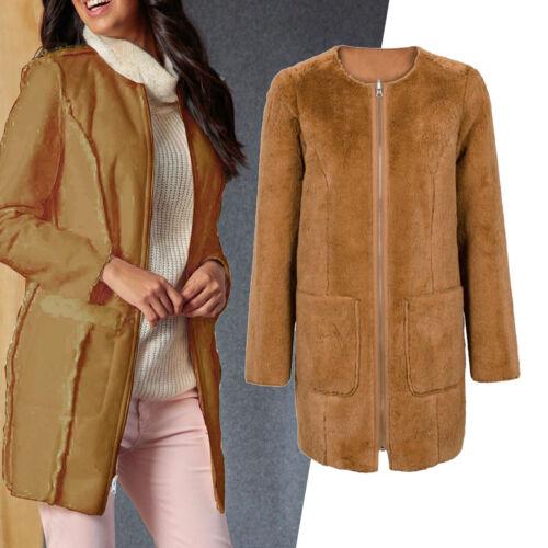 Teddy Genial en d'hiver Imitat Cognac 36 mouton 34 Camel Manteau Xs peau de s Jacket taille dqYFx4w70