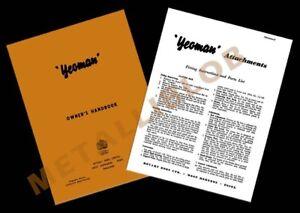 Howard Rotary Houes Yeoman Rotavator Owner's & Pièces Jointes Handbook - (2 Livres)-afficher Le Titre D'origine 4qjmcbck-07221729-637518835
