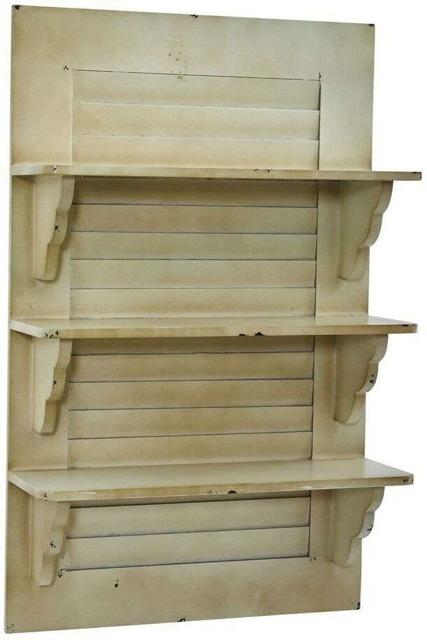 Shelf Shelf Shelf Boards 19.75 in. W x 7.5 in. D 3 Tiers Vintage Window Shutter Wall Decor f572e5