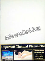 """SINGLE BED OFF CREAM / THERMAL FLANNELETTE 14"""" EXTRA DEEP FITTED SHEET"""
