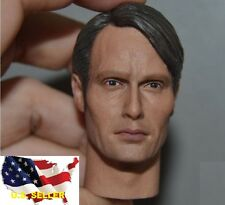 "1/6 Hannibal Lecter head Mads Mikkelsen for hot toys 12"" figure ❶US seller❶"
