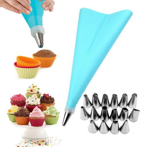18Pcs Cake Decorating Kits Piping Tips Pastry Icing Bag Nozzles  Baking Supplies