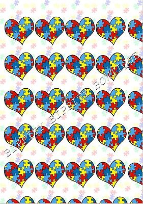 "GORGEOUS /""AUTISM AWARENESS/"" CANVAS PRINTED FABRIC SHEET.HAIR BOWS"