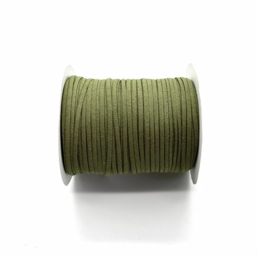 Eco Leather//Suede Cord 3mm Flat Rustic String 5 Colours x 2 metres