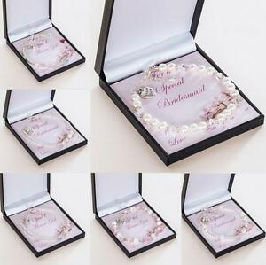 Image Is Loading Thank You Gifts For Bridesmaids Amp Flower S
