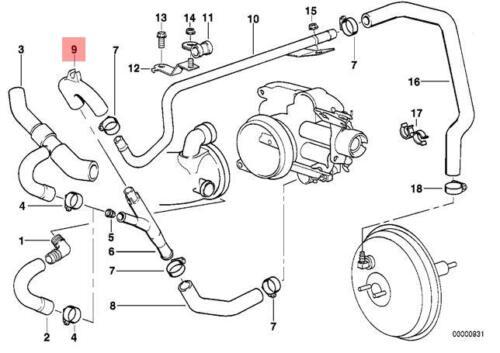 Genuine BMW E38 E39 Sedan Wagon Vacuum Control Hose OEM 11611704928