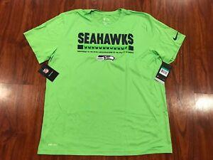 8223005d7b2 Nike Men s Seattle Seahawks Sideline Legend Staff Green Jersey Shirt ...