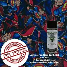 Hydrographic Water Transfer Hydro Dip Kit 6 Oz Activator Amp Man Of Steel Film 1m