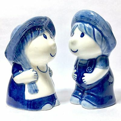 SALT & PEPPER SHAKERS PORCELAIN GIRL AND BOY CERAMIC FIGURINE COLLECTIBLES DECOR