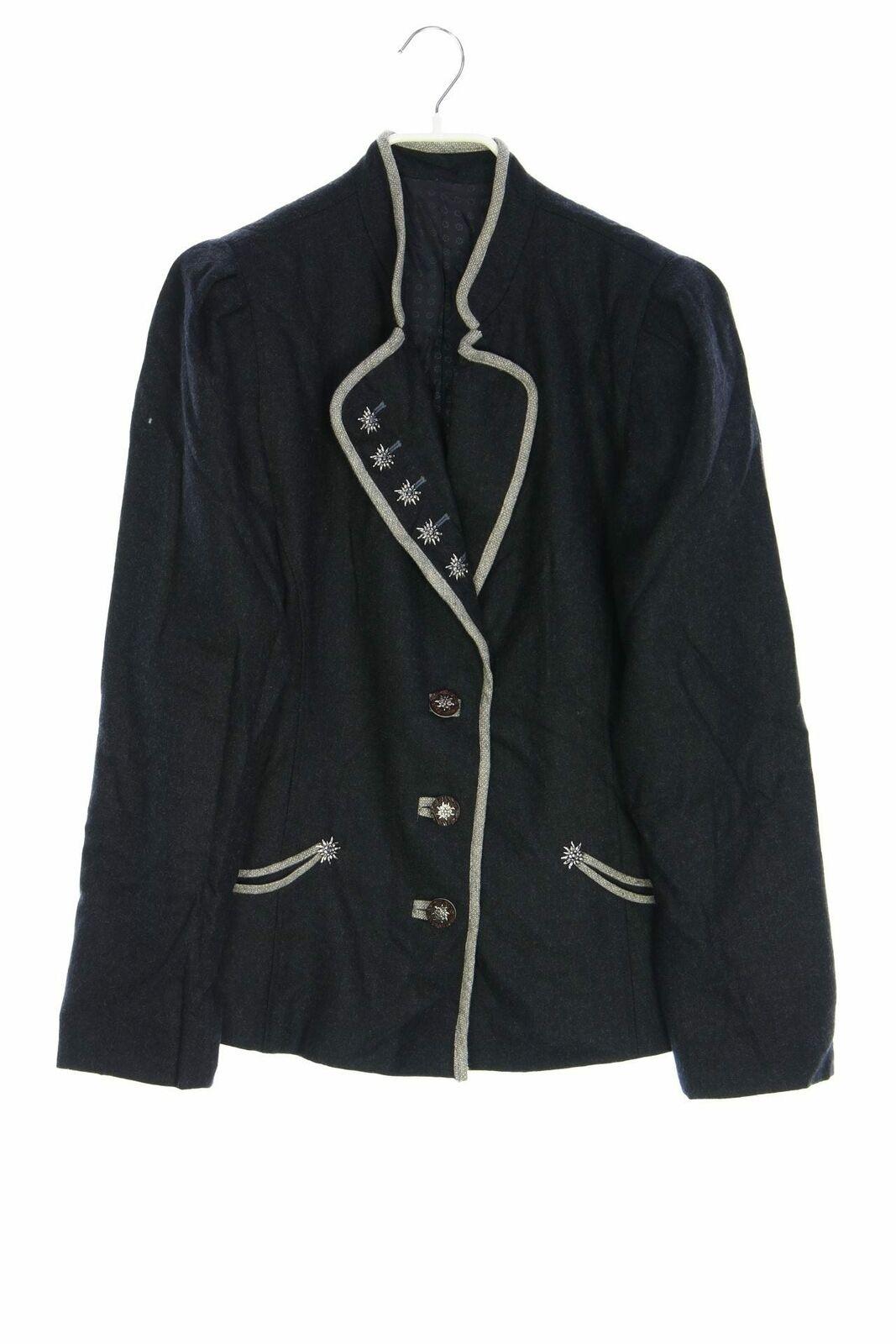 Trachten-Jacke mit Applikationen D 40-42 anthrazit Oktoberfest Trachtenjacke