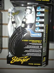 STINGER SI8220 8000 SERIES 2 CHANNEL CAR RCA INTERCONNECT CABLE 20' STEREO AUDIO