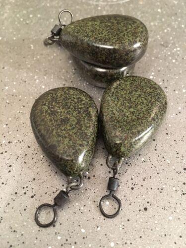 environ 85.05 g x10 Limoneux Vert Pêche à La Carpe Plomb poids Plat Poire 3 oz