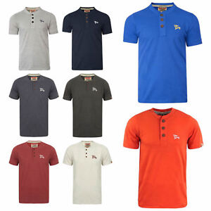 Designer Henley Shirts | Mens Designer Henley Style T Shirt By Tokyo Laundry Grandad Collar