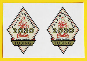 Raleigh-1950s-Vintage-style-2030-TUBING-Cycle-Stickers-decals-SPORTS-TOURIST