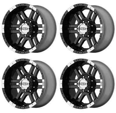 MOTO METAL MO951 MO9516980312 RIMS SET OF 4 16X9 -12MM OFFSET 8X6.5 GLOSS-BLACK