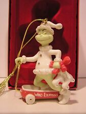 LENOX GRINCH WHO EXPRESS ornament NEW in BOX wagon