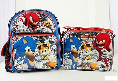 """Sonic the Hedgehog Team 16/"""" inches Large Backpack /& Lunch Box Licensed Product"""