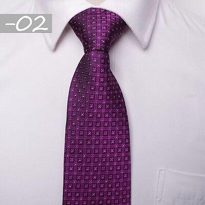 8CM  Men Jacquard Woven Tie Necktie Business Wedding Party Ties 17 style