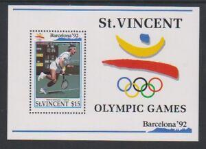 Symbole De La Marque St Vincent - 1992, Jeux Olympiques, Barcelone Feuille-neuf Sans Charnière-sg Ms1884b-afficher Le Titre D'origine Produire Un Effet Vers Une Vision Claire