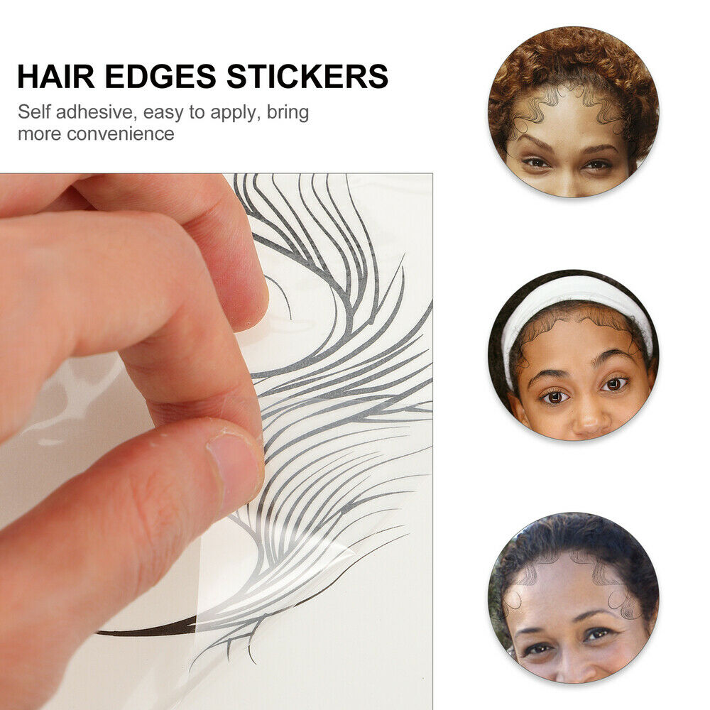 5 Sheets Hairline Decals Fashion DIY Temporary Hair Bands Sticker