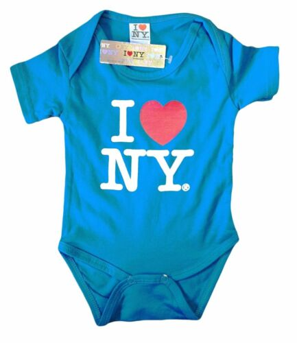Details about  /I Love NY New York Baby Bodysuit Turquoise Infant Screen Print I Heart New York