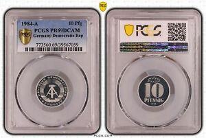 Rda 10 Peniques 1984A Pulida Placa PCGS PR69DCAM 53224