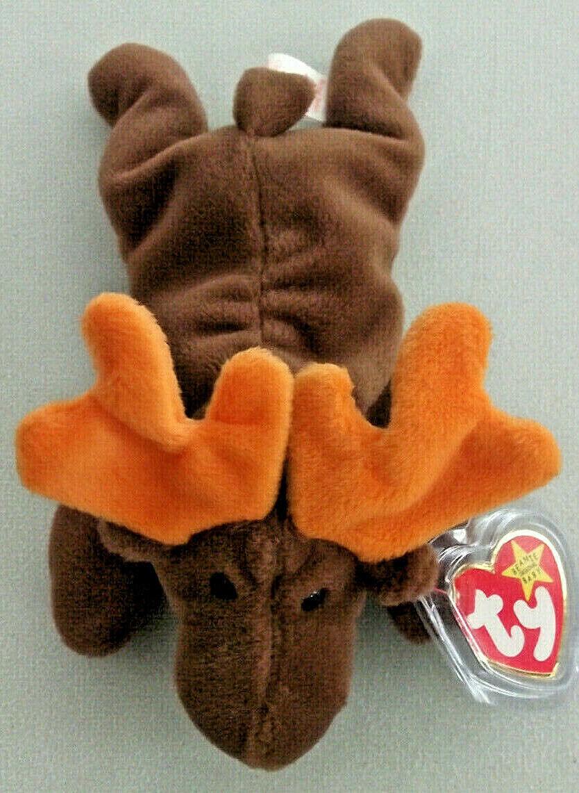 RARE Chocolate the Moose PVC PELLETS Ty Tags ORIGINAL Beanie Baby 1993 RETIRED