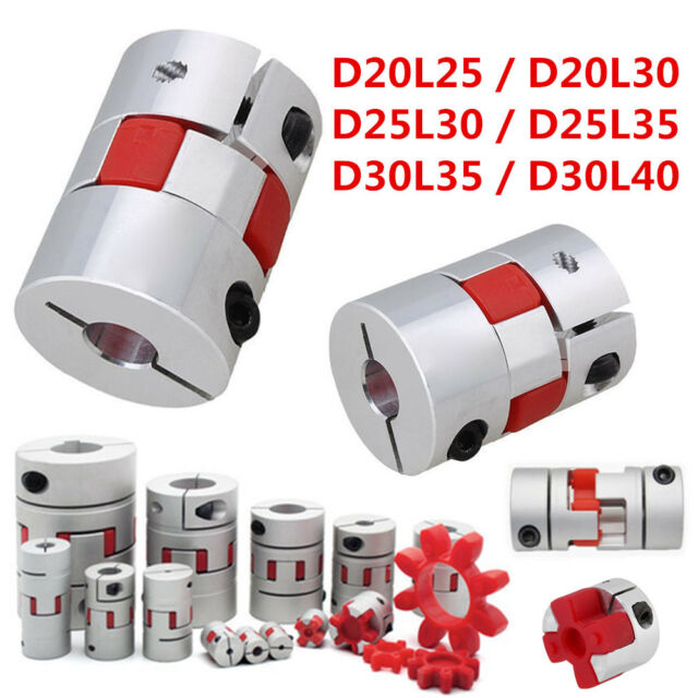 1 of Jaw Shaft Coupling Spider Flexible Coupler 12.7mmx12.7mm D30L40