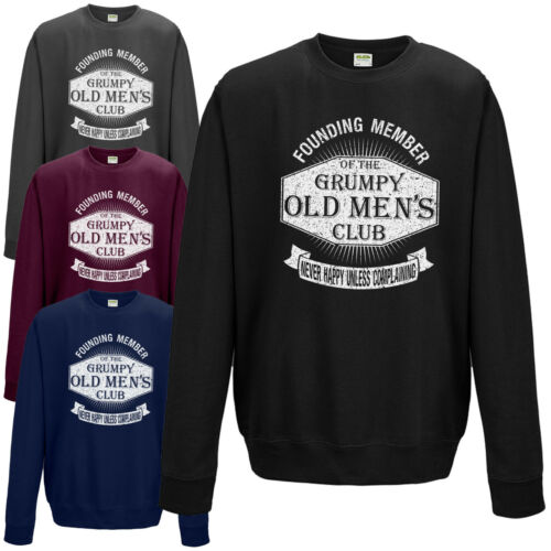 Funny Dad Grandad Fathers Day Joke Jumper NEW Grumpy Old Men/'s Club Sweatshirt