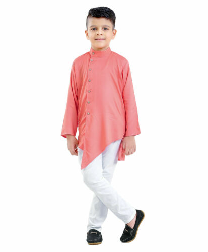 Kids Boys Kurta Pajama Set Indian Ethnic Cultural Fancy Party Dress Cotton Kids