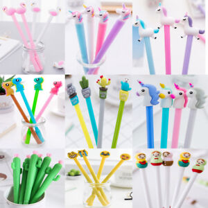 2Pcs-Cute-Style-Gel-Pen-Ballpoint-Stationery-Writing-Sign-Child-School-Office
