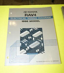 1998 Toyota RAV4 OEM EVTM Electrical Wiring Diagram ...
