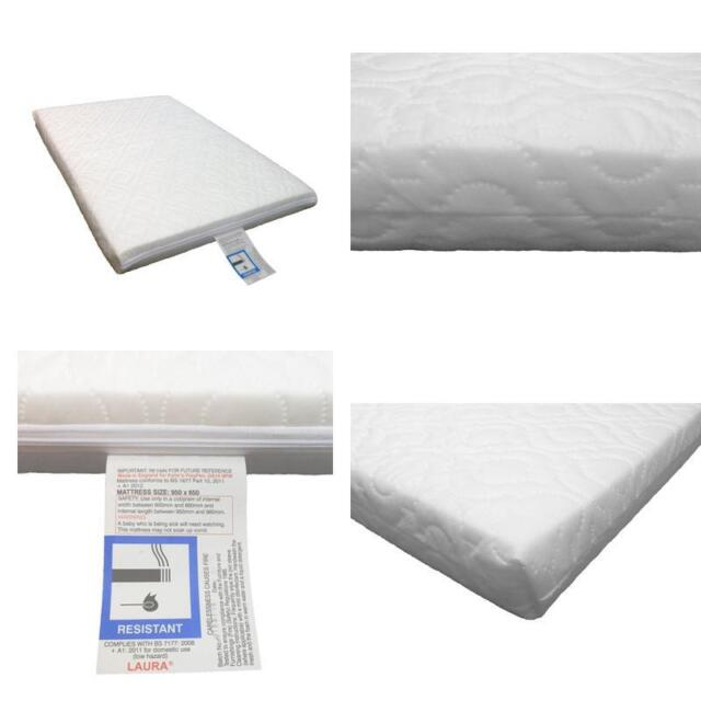 promo code 7f409 f5c40 Laura Deluxe Travel Cot Foam Mattress - Extra Thick - Reversible
