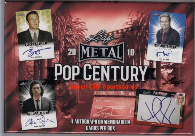 2018 Leaf Pop Century Metal Factory Sealed Hobby Box