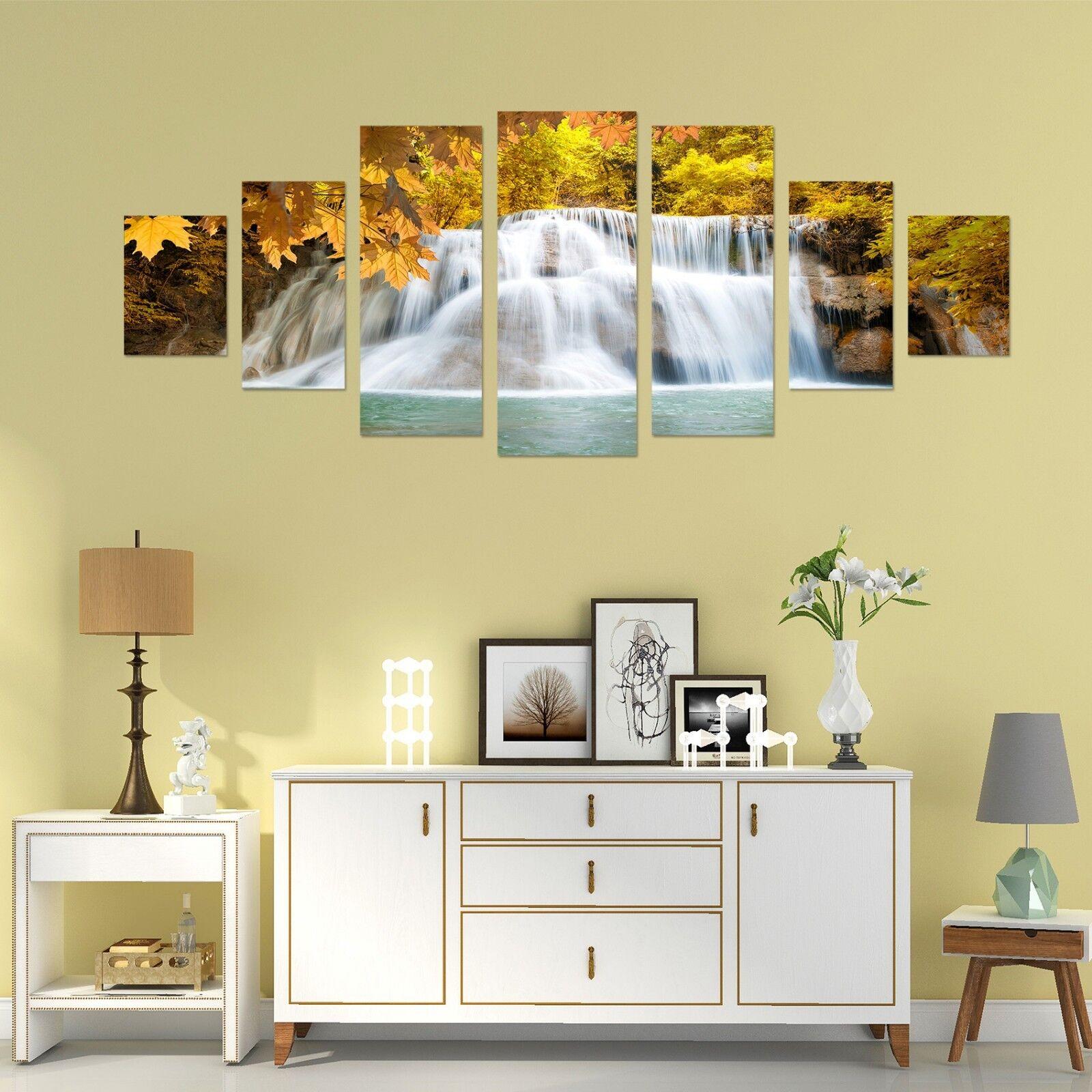 3D Leaf Waterfall 566 Unframed Print Wall Paper Decal Wall Deco Indoor AJ Wall
