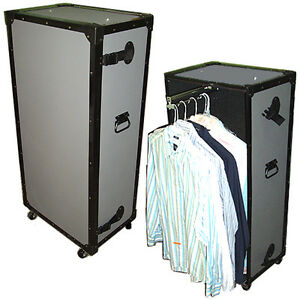 SMALL-COMPACT-TUFFBOX-WARDROBE-CASE-TRUNK-w-Pullout-Hanging-Bar