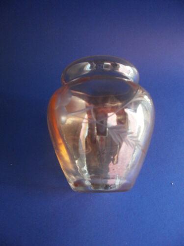 Pequeñas jarrón de cristal jarrón art deco gelüstert esmerilado hoja decoración lustred Glass Design