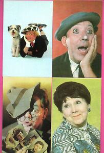 Russland-Sowjetisch-Pop-Stars-1960-70s-Menge-von-15-Vintage-Postkarte-423